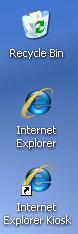 quiosco de explorador de internet