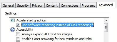 renderización de software