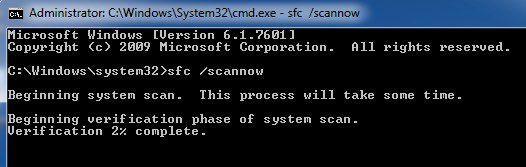 comprobador de archivos del sistema